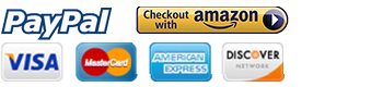 We accept Amazon Payments, PayPal, Visa, Mastercard, American Express, and Discover
